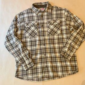 Wrangler Men's L soft fleece flannel plaid